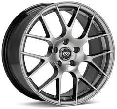 Enkei Raijin 19x8.5 38mm Offset 5x120 72.6mm Bore Hyper Silver Wheel