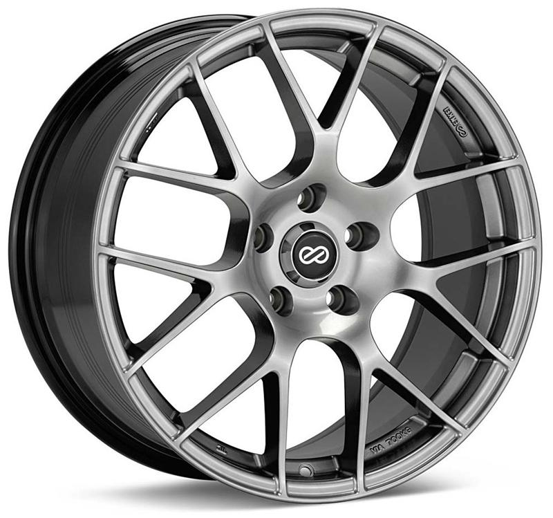 Enkei Raijin 18x9 5 45mm Offset 5x100 72 6mm Bore Hyper Silver Wheel