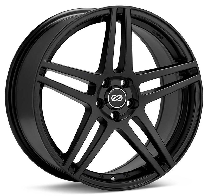 Enkei RSF5 18x8 40mm Offset 5x108 72.6mm Bore Matte Black Wheel