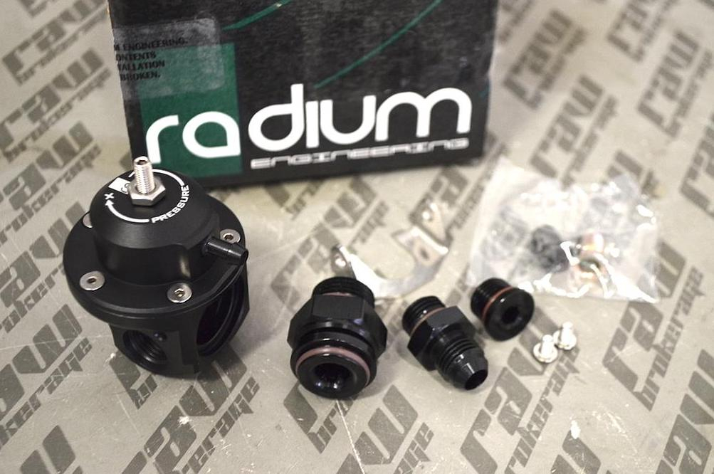 Radium Engineering DMR Fuel Pressure Regulator 8AN ORB - Black