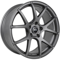 Enkei M52 16x7 38mm Offset 5x100 72.6mm Bore Matte Gray Wheel
