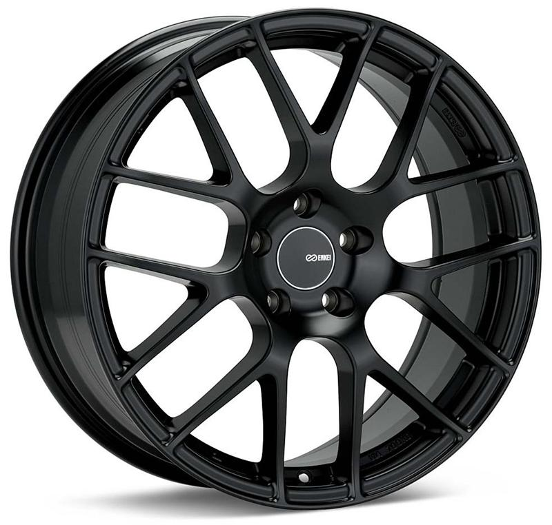 Enkei Raijin 19x8.5 38mm Offset 5x120 72.6mm Bore Black Wheel