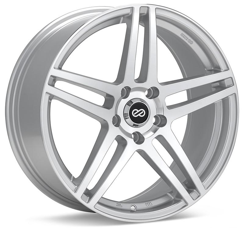 Enkei RSF5 16x7 38mm Offset 4x100 72.6mm Bore Silver Machined Wheel