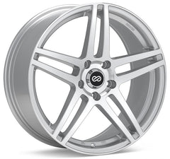 Enkei RSF5 16x7 45mm Offset 5x114.3 72.6mm Bore Silver Machined Wheel