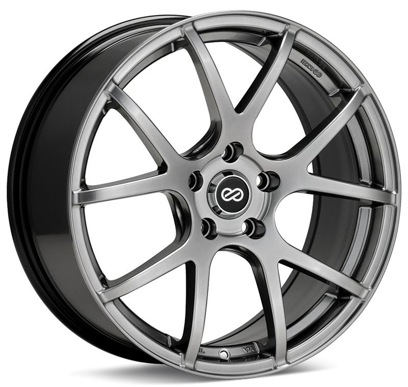Enkei M52 16x7 38mm Offset 5x114.3 72.6mm Bore Hyper Black Wheel