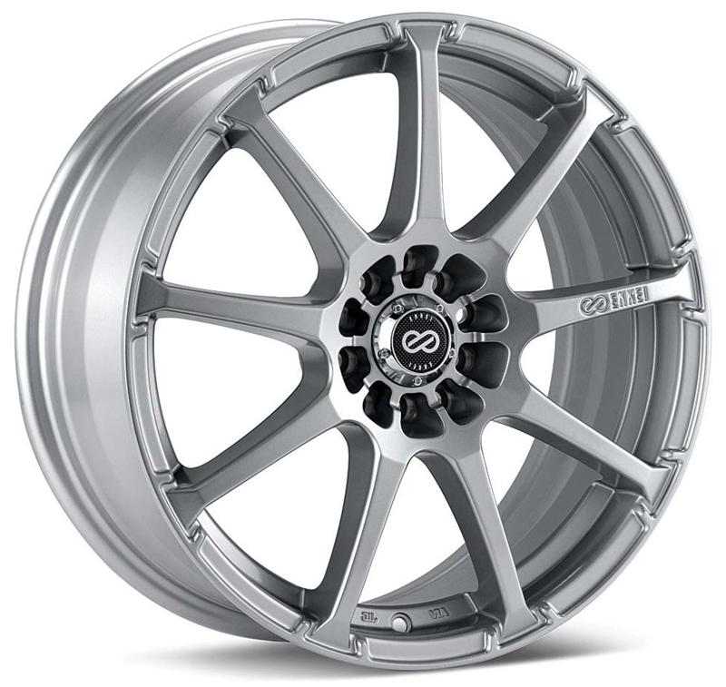 Enkei EDR9 17x8 45mm Offset 5x100/114.3 72.6mm Bore Silver Wheel