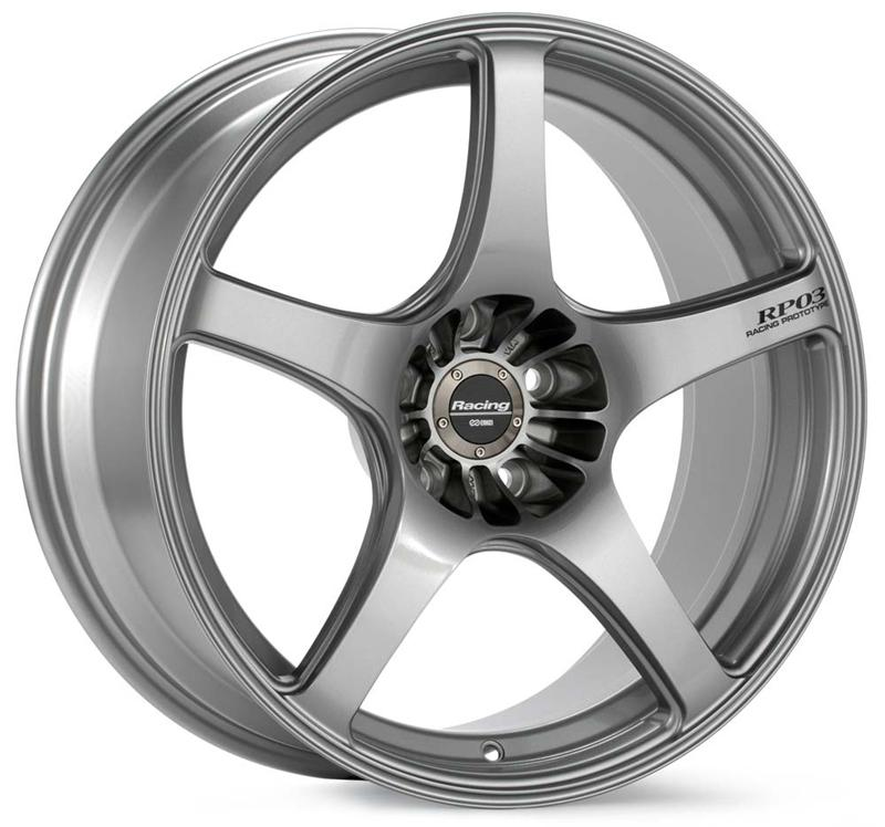 Enkei RP03 19x8 35mm Offset 5x100 75mm Bore Silver Wheel