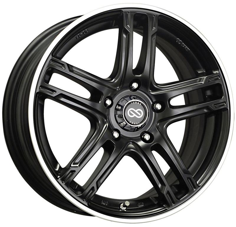 Enkei FD-05 17x7 40mm Offset 5x100 72.6mm Bore Black Machined Wheel