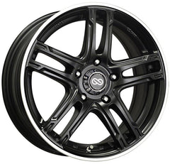 Enkei FD-05 18x7.5 45mm Offset 5x114.3 72.6mm Bore Black Machined Wheel
