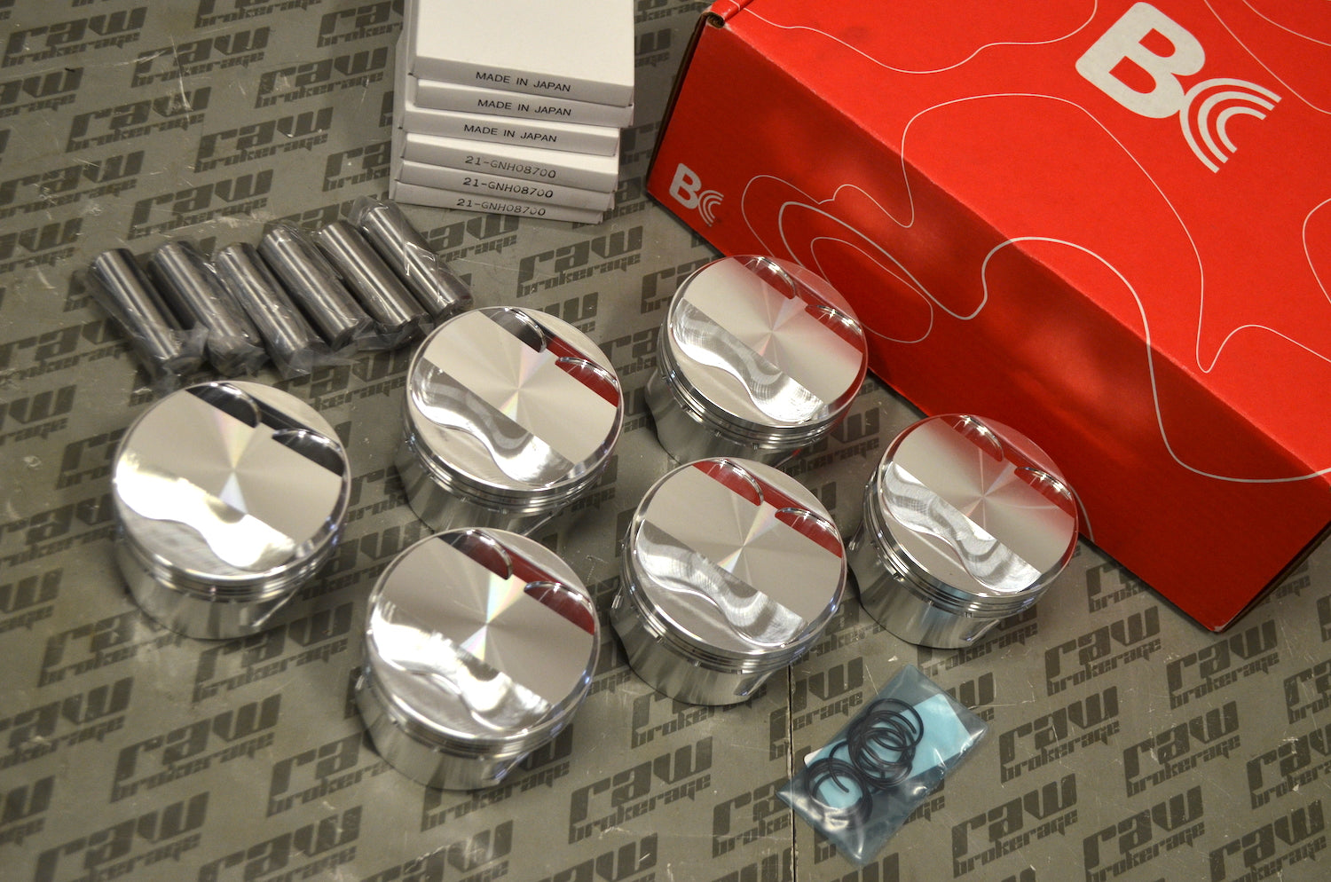 Brian Crower Pistons CP Custom w/5100 Alloy Pins, Rings and Locks for Nissan RB26/RB25 Stroker
