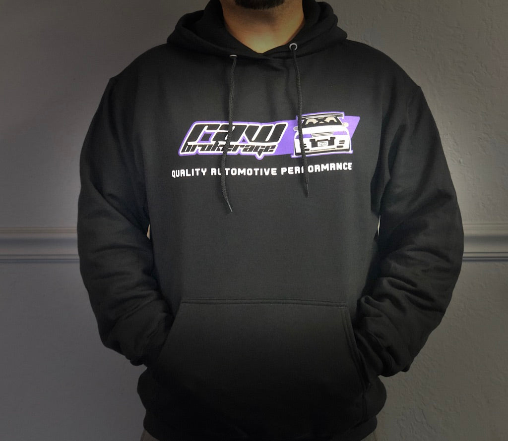 Raw Brokerage R32 GTR Black Pullover Hoodie
