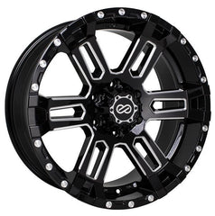 Enkei Commander 18x8.5 10mm Offset 6x139.7 108mm Bore Black Machined Wheel