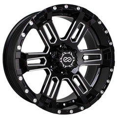 Enkei Commander 18x8.5 -10mm Offset 6x139.7 108mm Bore Black Machined Wheel