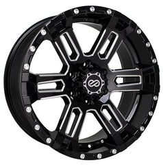 Enkei Commander 20x9 20mm Offset 5x127 71.6mm Bore Black Machined Wheel