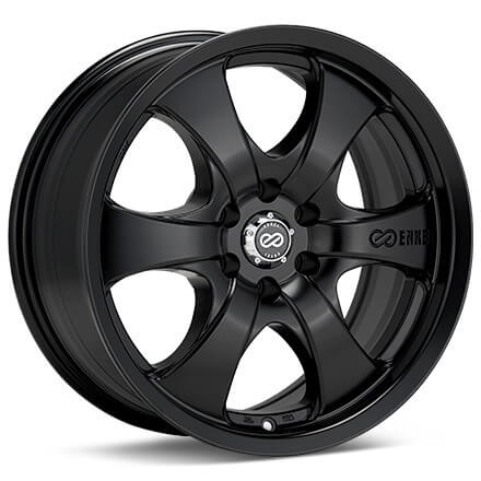 Enkei M6 17x8 10mm Offset 6x139.7 108.6mm Bore Black Wheel