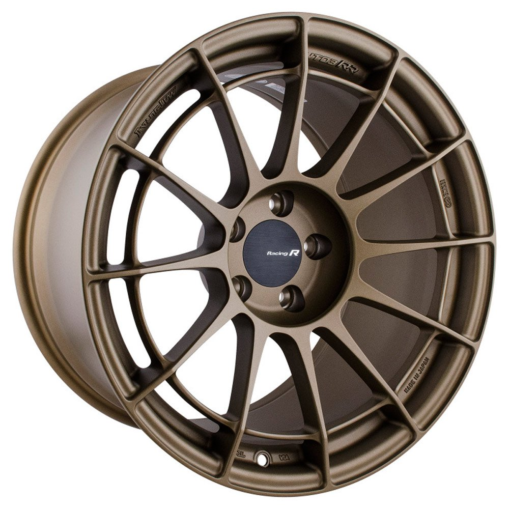 Enkei NT03RR 18x9.5 27mm Offset 5x114.3 75mm Bore Titanium Gold Wheel