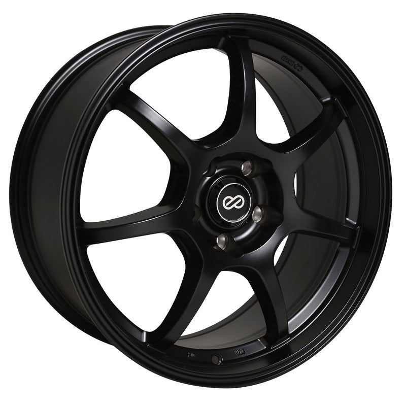 Enkei GT7 18x8 45mm Offset 5x112 72.6mm Bore Matte Black Wheel