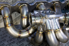 Raw Brokerage BILLET Twin Scroll Top Mount Turbo Manifold RB20 RB25 RB26