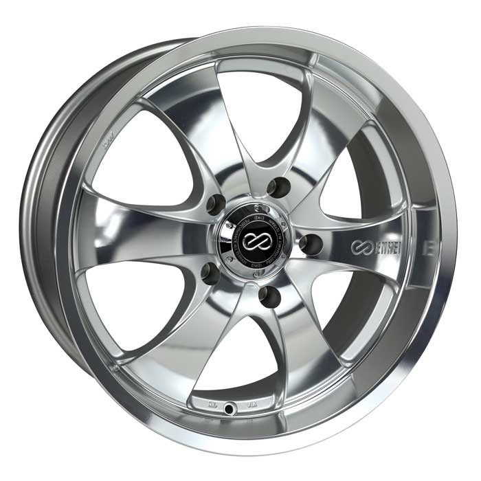 Enkei M6 17x8 10mm Offset 5x127 71.6mm Bore Mirror Finish Wheel