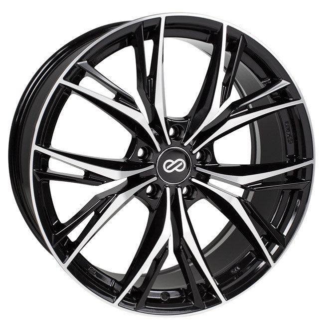 Enkei ONX 18x8 40mm Offset 5x110 72.6mm Bore Black Machined Wheel