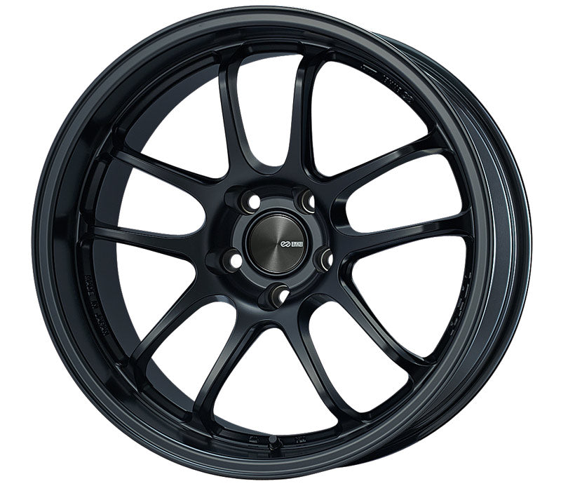 Enkei PF01EVO 18x10.5 22mm Offset 5x120 72.5mm Bore Matte Black Wheel