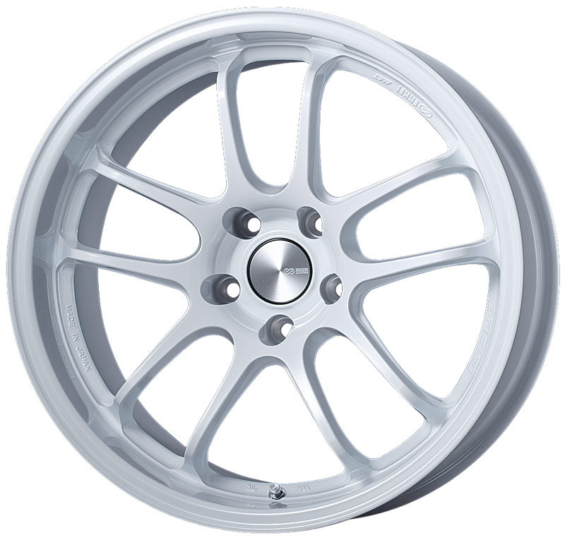 Enkei PF01EVO 18x9 35mm Offset 5x114.3 75mm Bore Pearl White Wheel