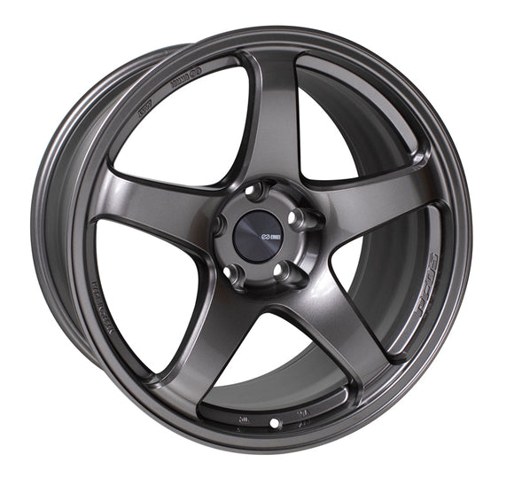 Enkei PF05 17x9 40mm Offset 5x100 75mm Bore Dark Silver Wheel