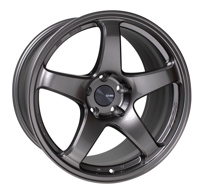 Enkei PF05 18x9.5 38mm Offset 5x114.3 75mm Bore Dark Silver Wheel