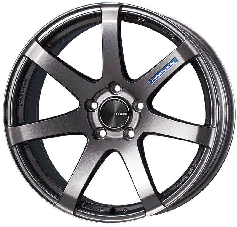 Enkei PF07 19x8 45mm Offset 5x114.3 75mm Bore Dark Silver Wheel