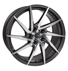 Enkei PW10 18x8 40mm Offset 5x108 72.6mm Bore Gunmetal Machined Wheel
