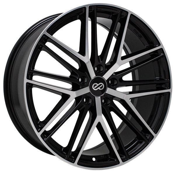 Enkei Phantom 18x8 40mm Offset 5x120 72.6mm Bore Black Machined Wheel