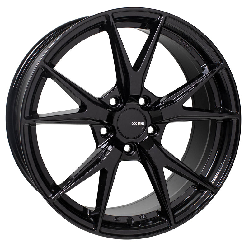 Enkei Phoenix 17x7.5 45mm Offset 5x100 72.6mm Bore Gloss Black Wheel