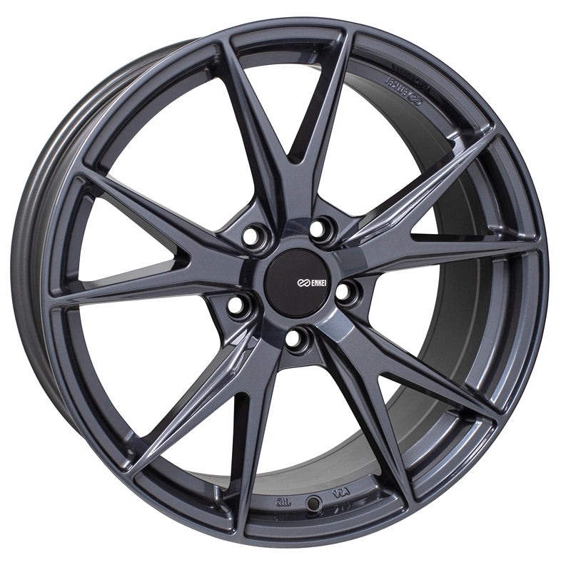 Enkei Phoenix 18x8 40mm Offset 5x108 72.6mm Bore Blue Gunmetal Wheel
