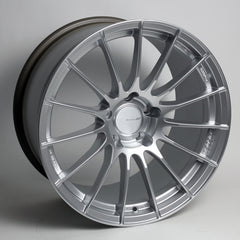 Enkei RS05RR 18x9.5 35mm Offset 5x120 72.5mm Bore Sparkle Silver Wheel