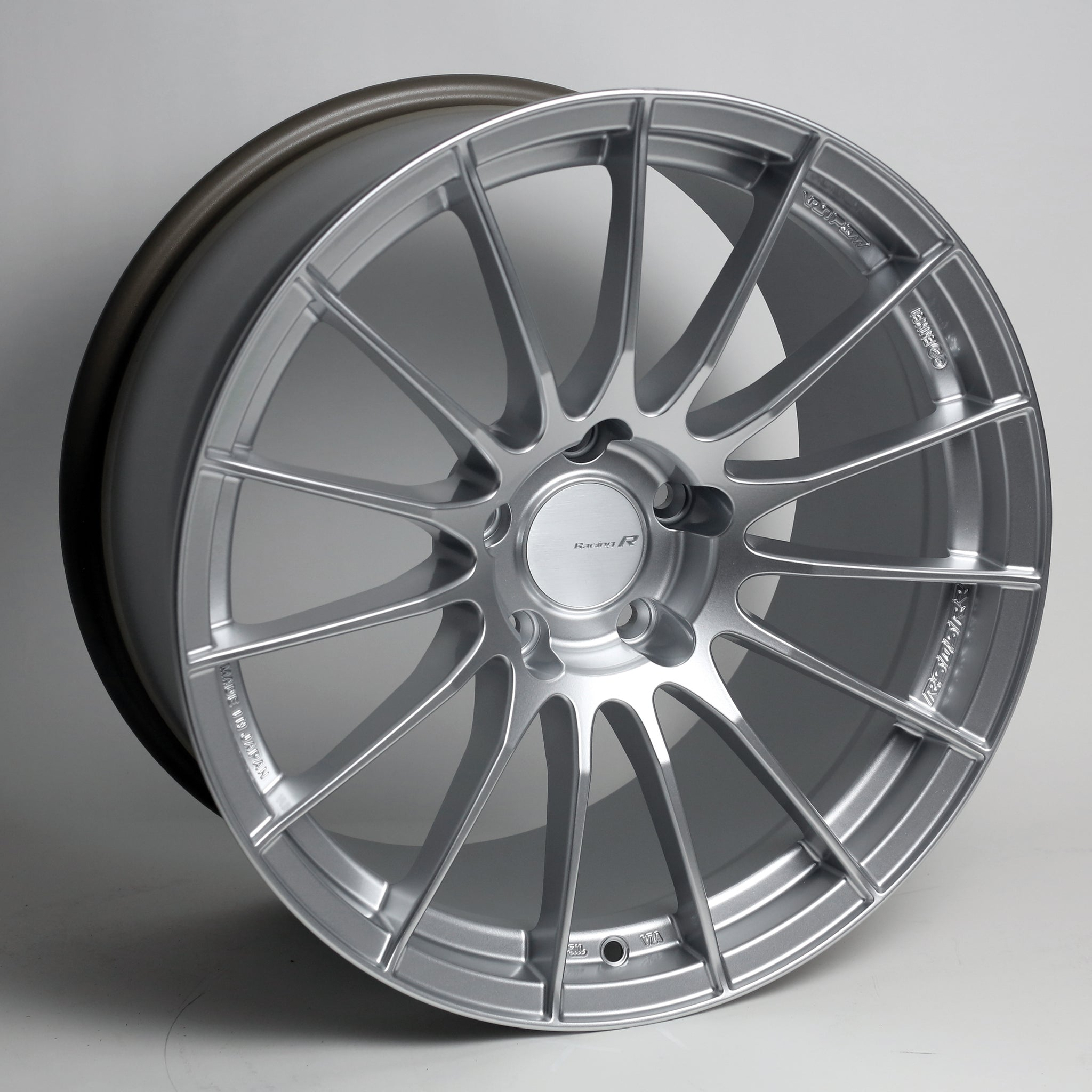 Enkei RS05RR 18x10 22mm Offset 5x114.3 75mm Bore Sparkle Silver Wheel