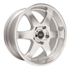 Enkei ST6 18x8.5 20mm Offset 6x139.7 108.5mm Bore Silver Machined Wheel