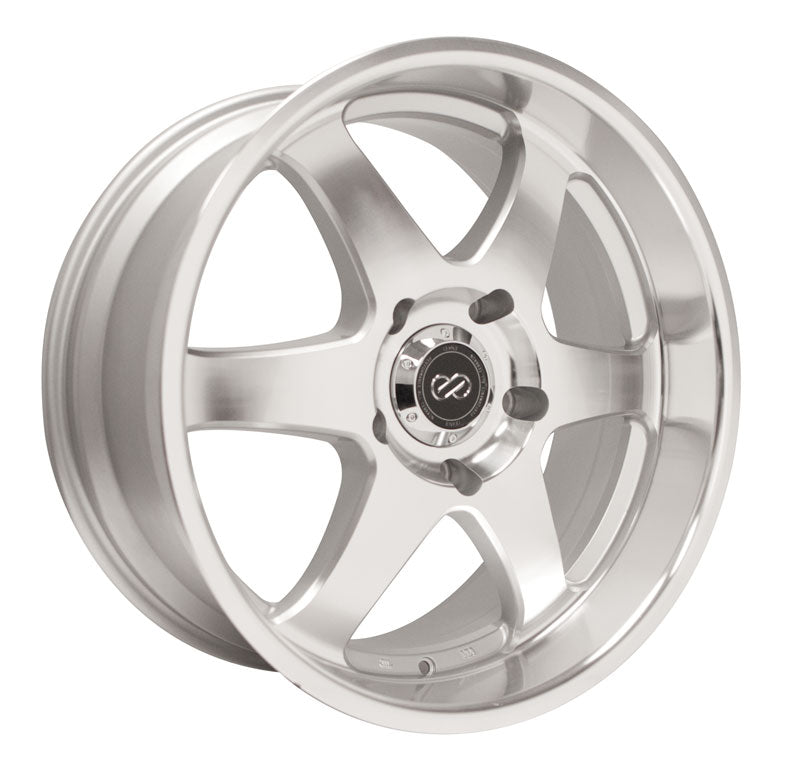 Enkei ST6 18x8.5 20mm Offset 6x114.3 66.1mm Bore Silver Machined Wheel
