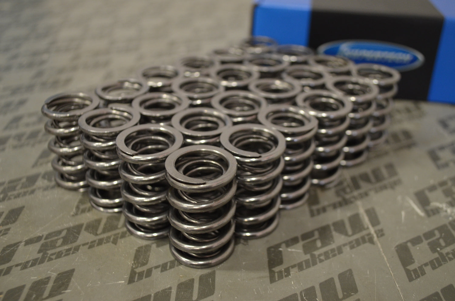 Supertech SPR-TS1015-RB26 Dual Springs; Outer Spring 27.5mm OD / 20mm ID; Inner Spring 20mm OD / 15.2mm ID; Intake 64lbs@35.0mm