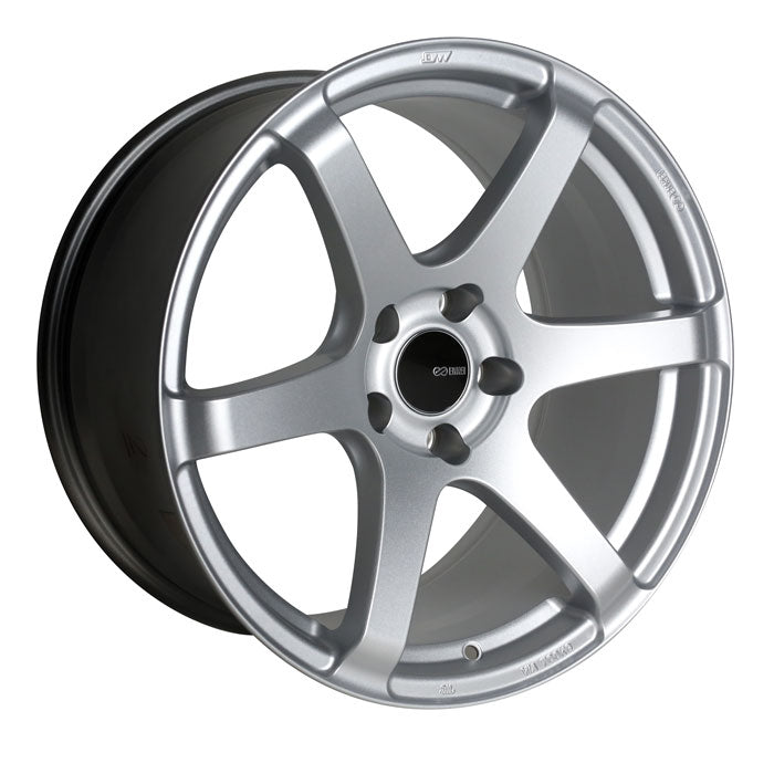 Enkei T6S 18x8.5 35mm Offset 5x120 72.6mm Bore Matte Silver Wheel