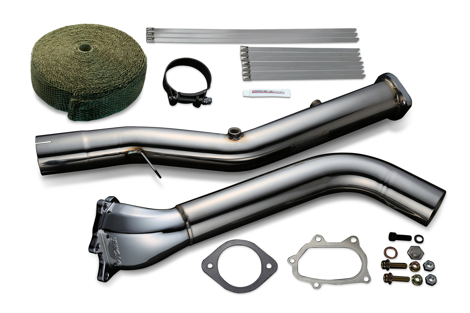 Tomei STRAIGHT DOWN PIPE KIT EXPREME EJ SINGLE SCROLL GR/GV/GE/GH/VA Ver.2 with TITAN EXHAUST BANDAGE (Previous Part Number 431106)
