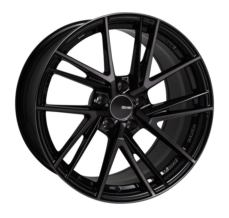 Enkei TD5 18x9.5 15mm Offset 5x114.3 72.6mm Bore Pearl Black Wheel