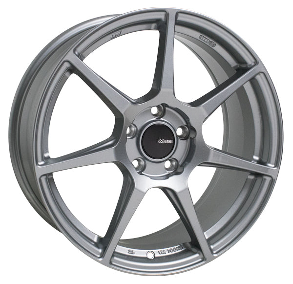 Enkei TFR 17x8 45mm Offset 5x114.3 72.6mm Bore Storm Gray Wheel