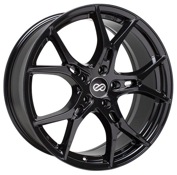 Enkei Vulcan 19x8 45mm Offset 5x114 3 72 6mm Bore Gloss Black Wheel