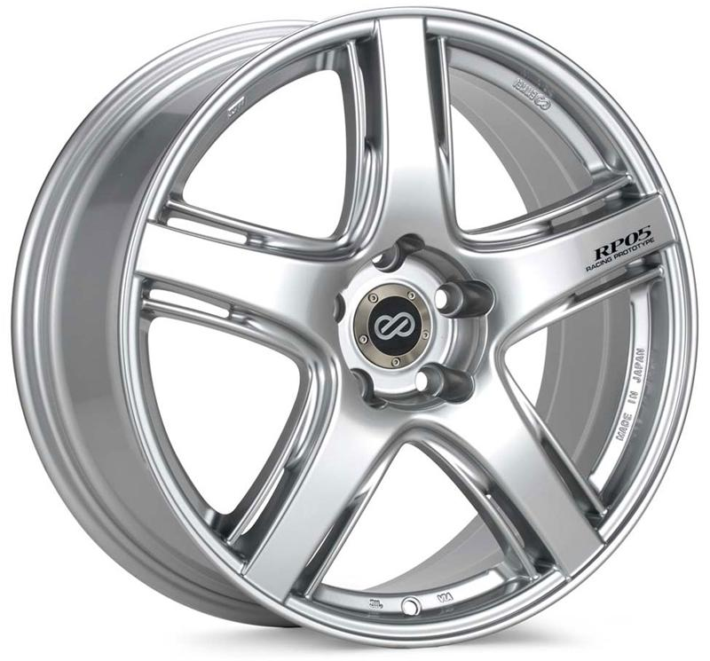 Enkei RP05 17x8 48mm Offset 5x114.3 75mm Bore Silver Wheel