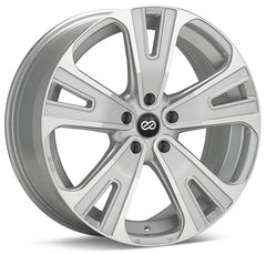 Enkei SVX 20x8.5 40mm Offset 5x120 72.6mm Bore Silver Machined Wheel