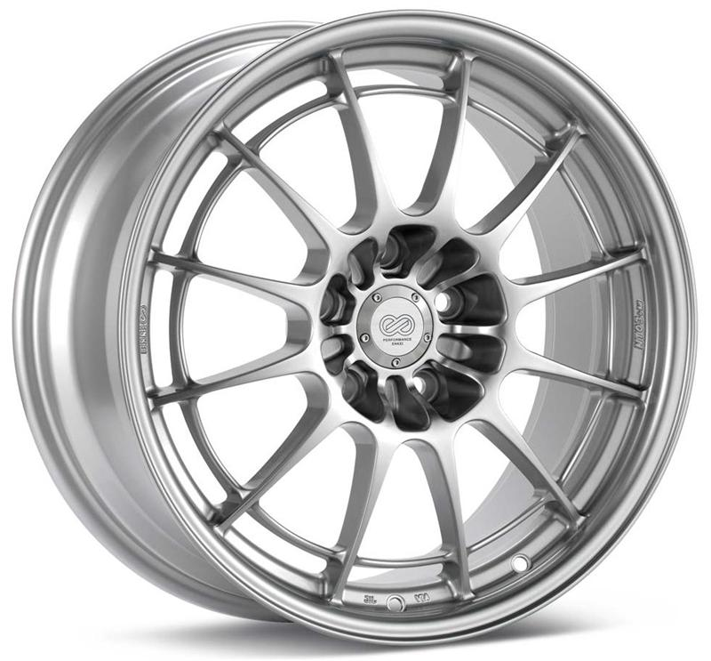 Enkei NT03+M 18x8.5 38mm Offset 5x114.3 72.6mm Bore Silver Wheel