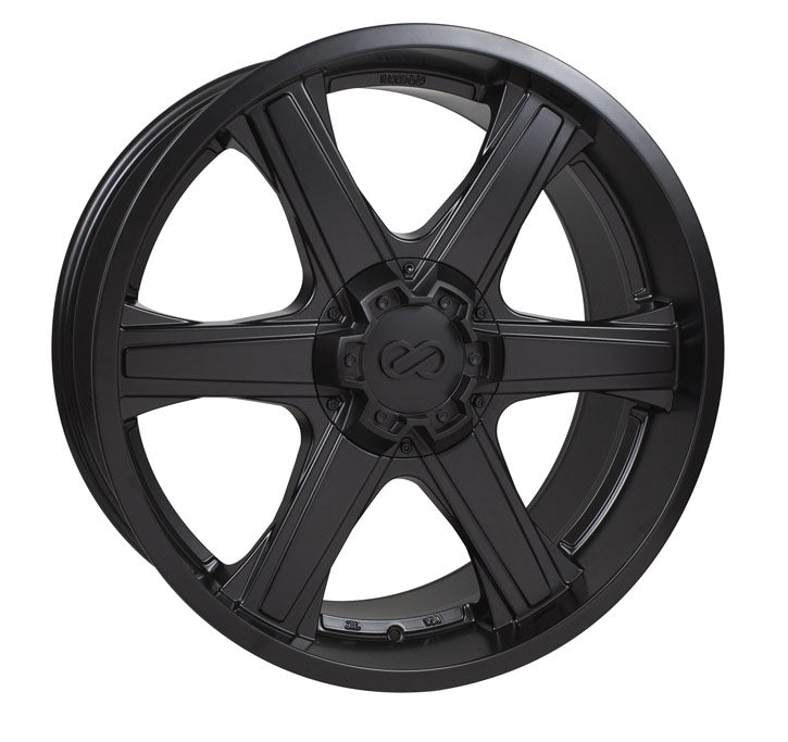 Enkei Blackhawk 22x9.5 15mm Offset 6x139.7 108mm Bore Black Wheel