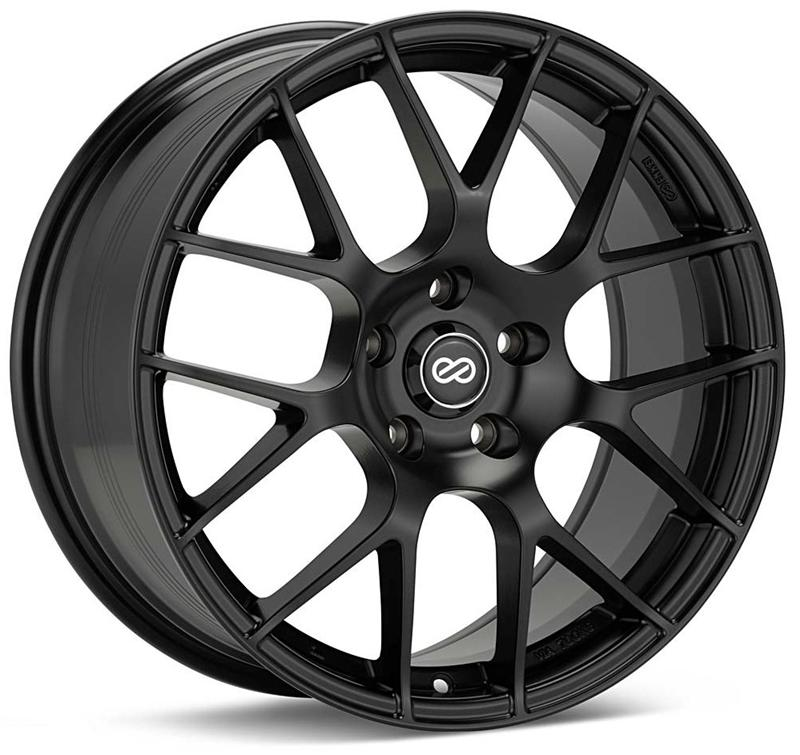 Enkei Raijin 18x8 45mm Offset 5x114.3 72.6mm Bore Matte Black Wheel
