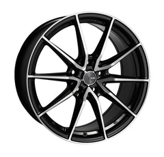 Enkei DRACO 18x8 45mm Offset 5x100 72.6mm Bore Black Machined Wheel