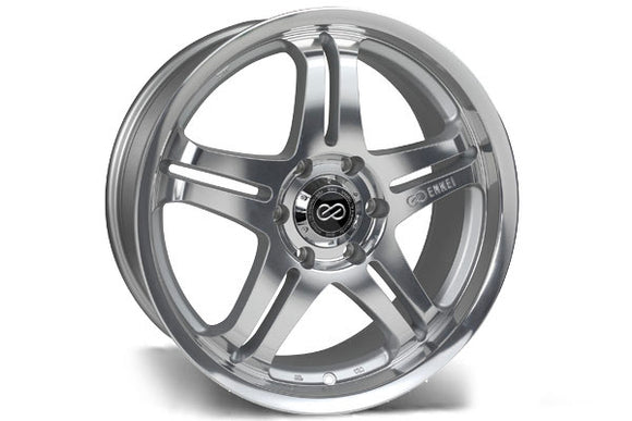 Enkei M5 17x7.5 45mm Offset 5x114.3 72.6mm Bore Mirror Finish Wheel